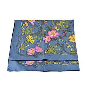 Gucci  494604 Webby Flower Silk Scarf